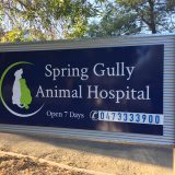 Sign at Spring Gully Animal Hospital Bendigo